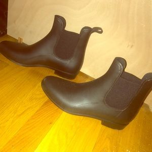 Shoes - Black slip on boots size 10